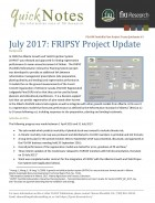 FGrOW QuickNote: FRIPSY Project Update, July 2017